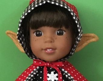 Elf costume PATTERN for Wellie Wisher Dolls