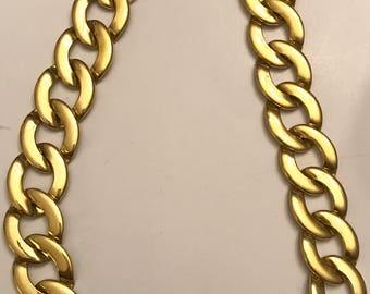 Vintage Napier Gold Tone Link Necklace