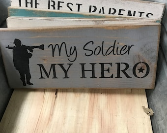 Small Shelf Plaque | Sign | Soldier Sign | My Soldier My Hero