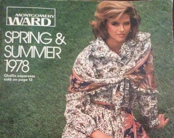 Vintage 1978 Montgomery Ward Spring And Summer Catalogue