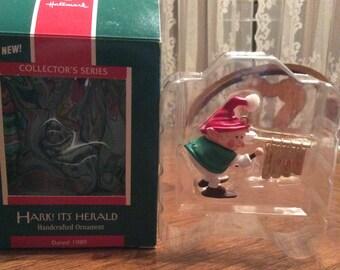 VINTAGE 1989 Hark! It's Herald HALLMARK Keepsake Ornament