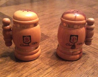 Collectible wooden salt / pepper shakers