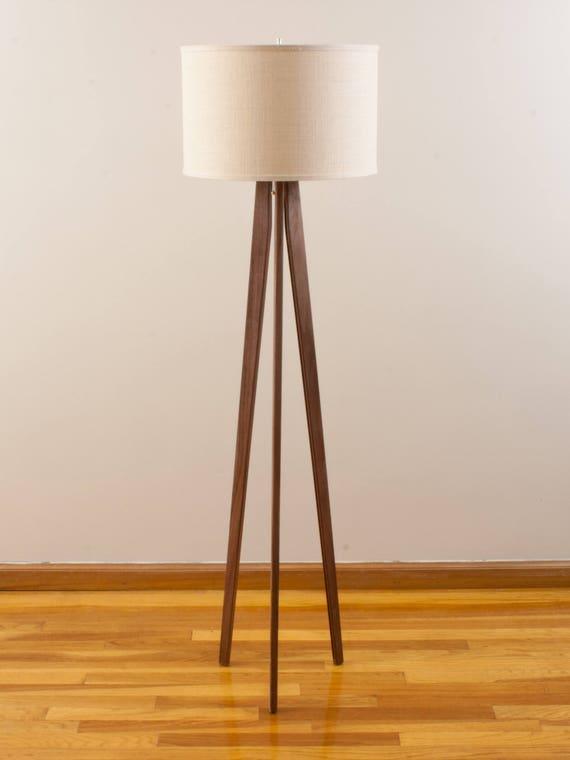 Tripod Floor Lamp Black Walnut Mid Century Modern