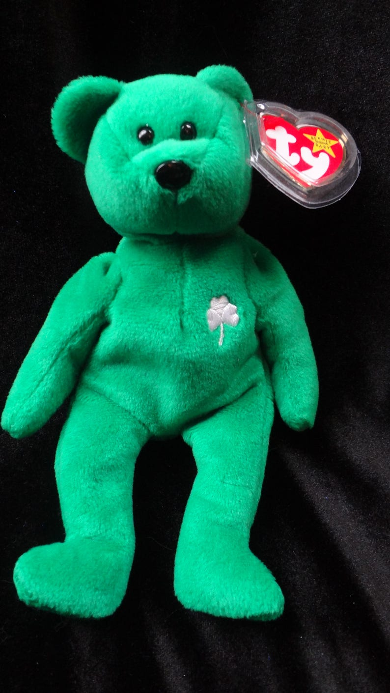 290cefe1605 TY Erin Beanie Baby RARE Retired w  all the ERRORS Mint