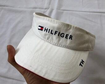 d29043c60 Vintage TOMMY HILFIGER Visor Cap Hat Big Logo