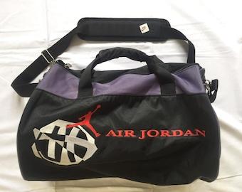 c75f5d1d0e93 Vintage 90 s Nike Michael Jordan Multicolor Duffle Bag