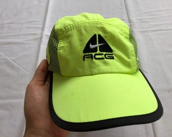 7b204a45 Vintage NIKE ACG All Condition Gear Hat Cap Big Logo Neon