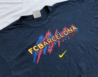 competitive price 01a2c 3fce8 Vintage NIKE Barcelona Shirt Big Logo