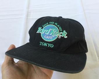 c4d0841e137 Vintage 90 s Hard Rock Cafe TOKYO Hat Cap Big Logo