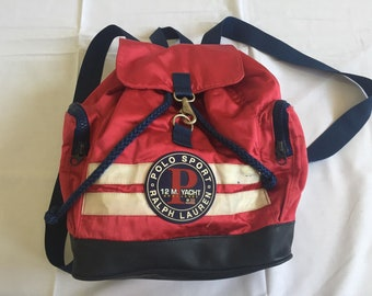 a655ff1f09 Vintage Polo Sport 12M Yacht Challenge Bagpack