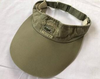 1c4e3266 Vintage 90s' LACOSTE Visor Cap Hat