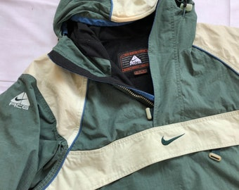 040ca2f1f35a Vintage 90 s Nike Acg All Condition Grear Jacket Anorak Outdoor Jacket