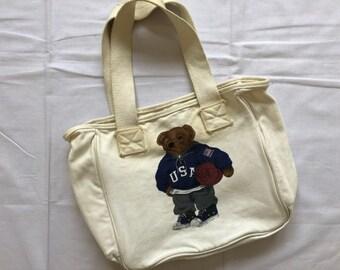 8b546db8a863 Vintage Polo Bear Ralph Lauren Tote Bag