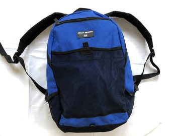 c66aff448886 Vintage 90 s Polo Sport Ralph Lauren Navy Blue Backpack