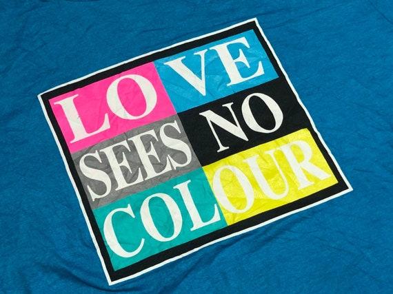 Vintage Cross Colours Shirt Love See No Color Shi… - image 4