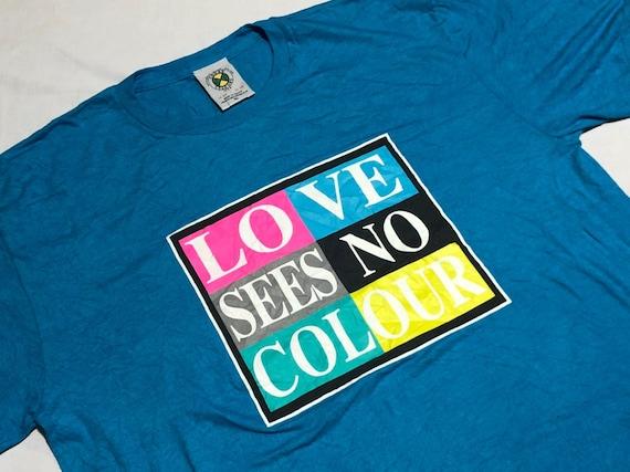 Vintage Cross Colours Shirt Love See No Color Shir
