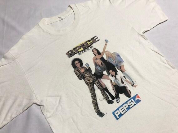 Vintage 90's Spice Girls Shirt Promo Pepsi Screen