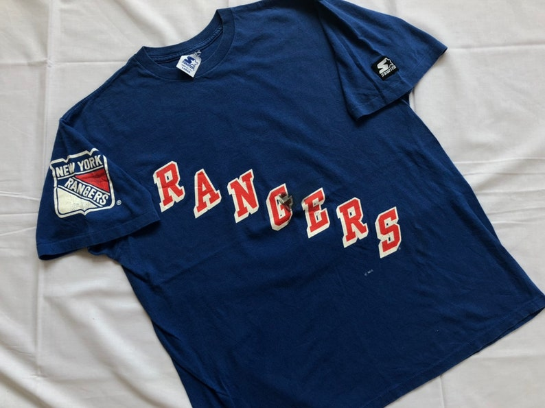new product 75ef7 58ffe Vintage 90's New York Rangers Shirt Stater