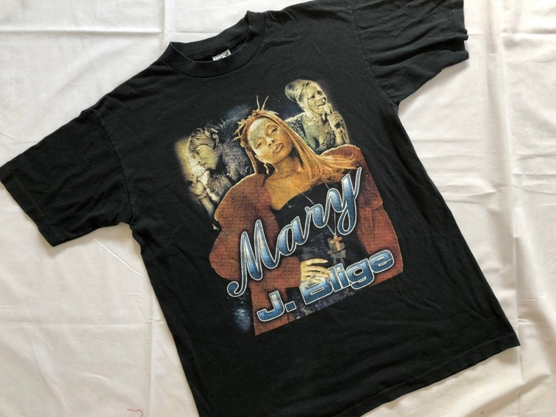 bef861a2ca6 Vintage 1998's MARY J. BLIGE Tour Hiphop Rap Tee | Etsy