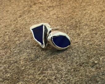 Custom Sea Glass Post Earrings