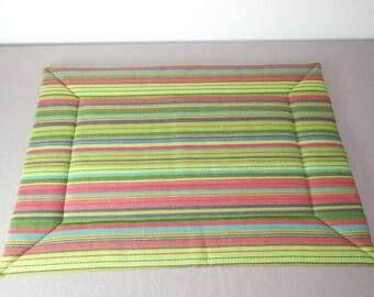 Matching mat + Kdo: bag - dog collar 48 x 70 cm chlorophyll