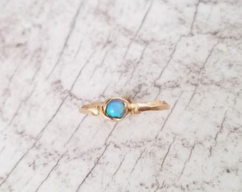 opal Ring/Turquoise Ring/Gemstone Ring/Gold Filled Or Sterling Silver Ring/Stacking Rings/Light Blue Ring/Birthstone Ring/Simple Ring/silver
