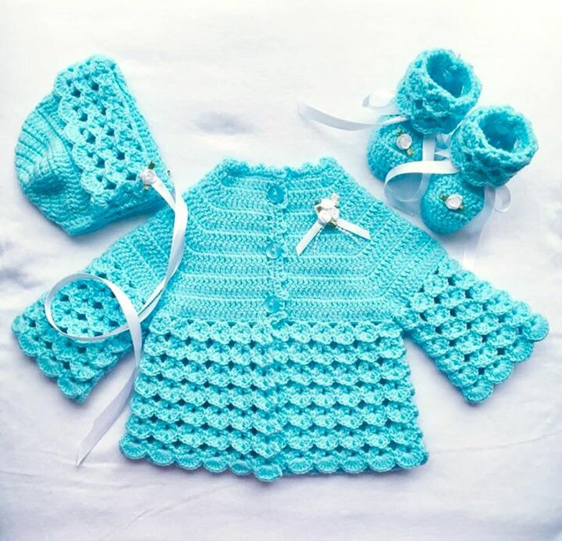 9652a278e Coming Home Outfit Baby Crochet Gift Set Baby Shower Gift