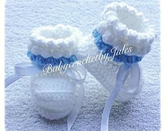 Crochet Baby Booties, Baby Crochet Shoes, New Baby Gift, Newborn, Handmade, Baby Boy Gift, Baby Crochet Booties, Baby Crochet Shoes.