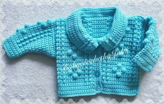 Photo Prop Coming Home Outfit Baby Shower Gift Baby Photo Prop New Baby Gift Pregnancy Reveal Unisex Baby Gift Baby Crochet Cardigan