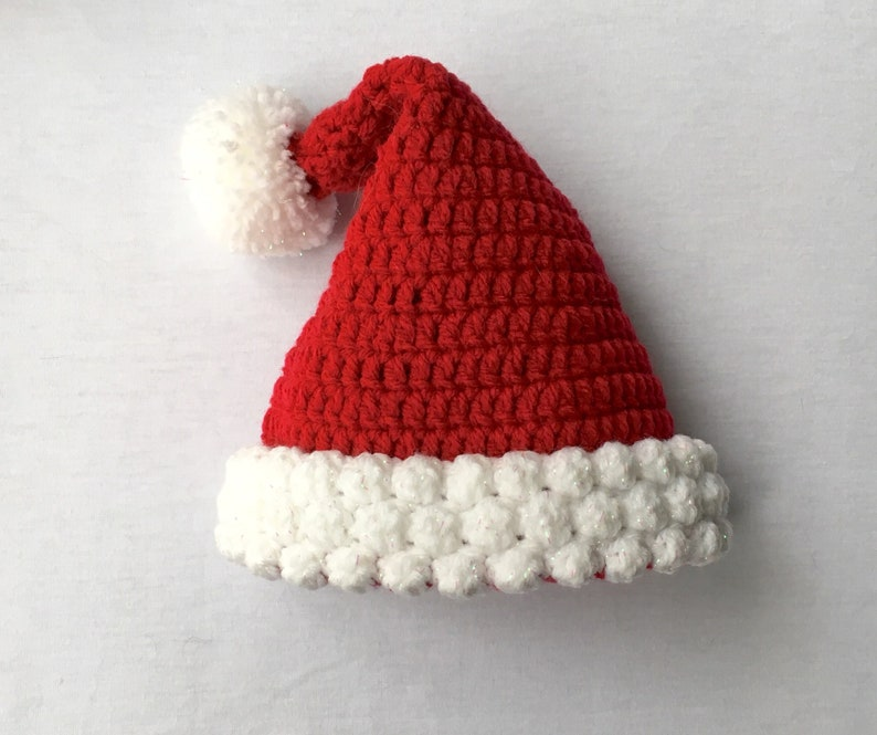 24b8b2852 Baby Santa Hat Baby Crochet Hat Novelty Baby Hat New Baby