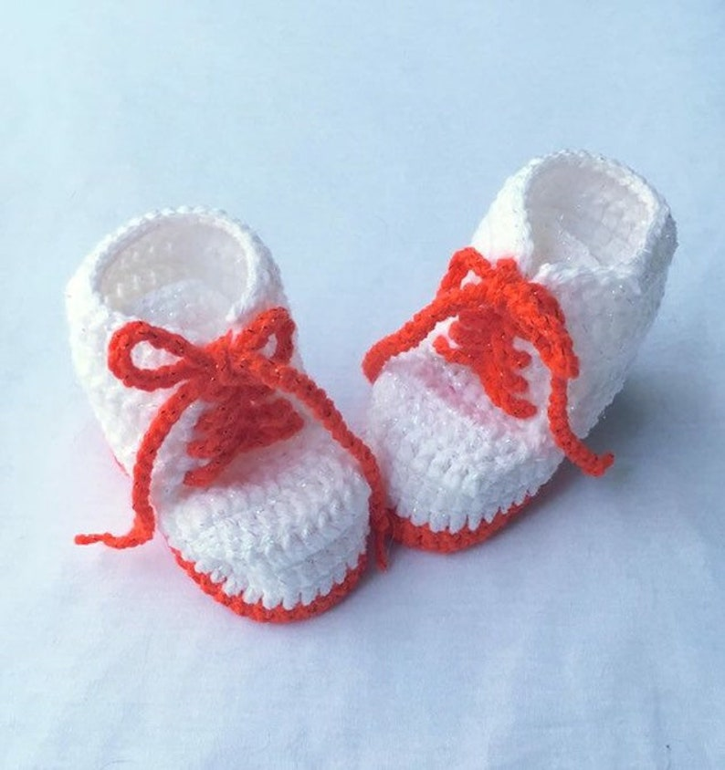 Baby Infant New born Handmade Crochet Knit Lace baby shower First Shoes Gift