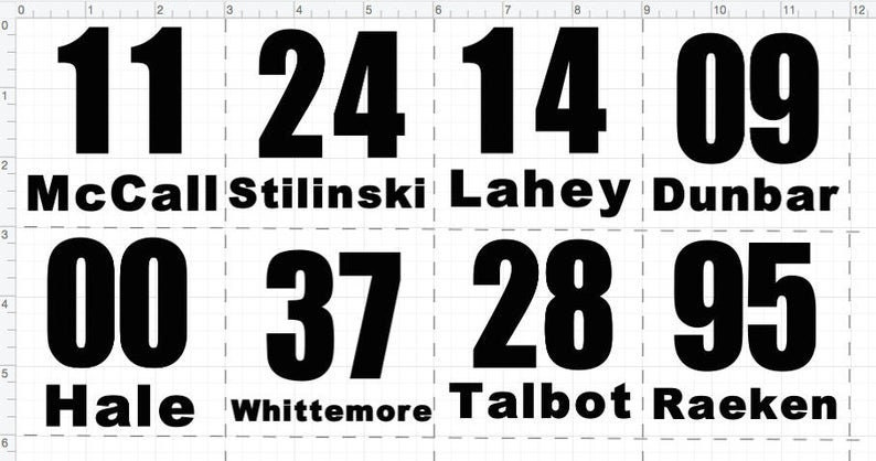 Teen Wolf Pack Symbol & Lacrosse Jersey Number Decals | Etsy