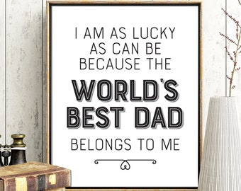picture about Lucky to Have a Dad Like You Printable named Properly Accomplished Father Im Amazing Fathers Working day Printable Reward Father Etsy