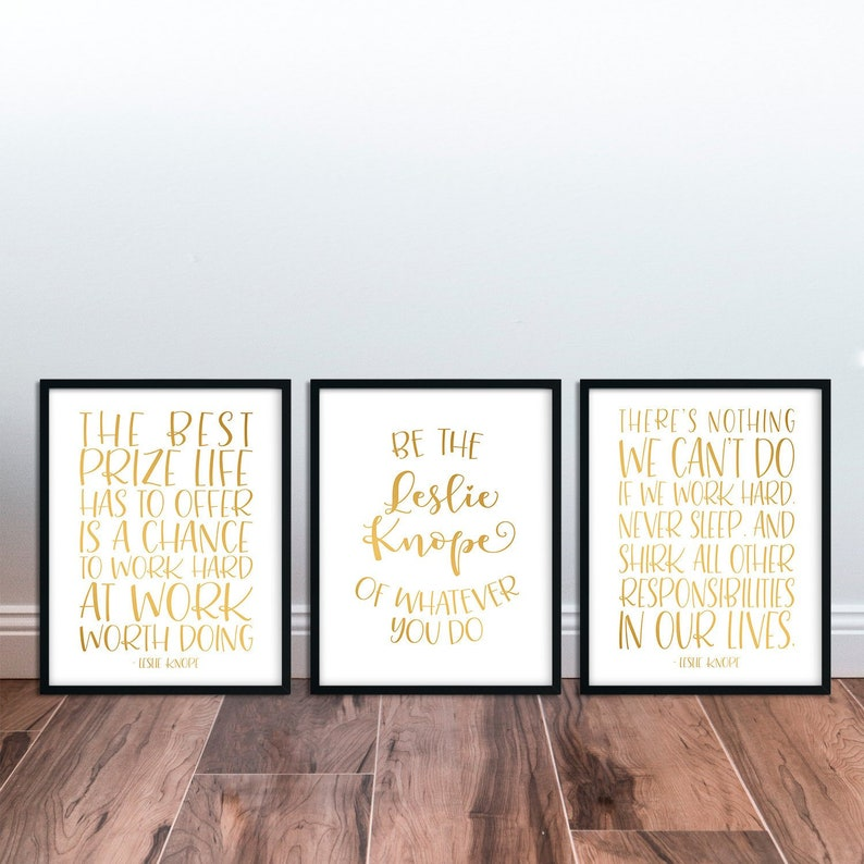 Leslie Knope Parks And Rec Printable Funny Quote Poster