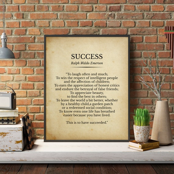 success ralph waldo emerson poem