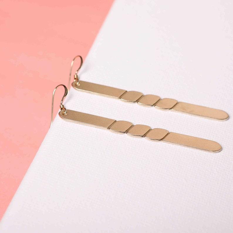 Elegant Earrings Delicate  gold earrings Cute gift earrings for women  Evening Earrings