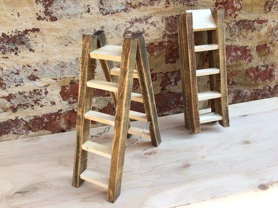 Scaletta In Legno Pieghevole : Scala a pioli in legno arredo pieghevole idea regalo scaletta etsy