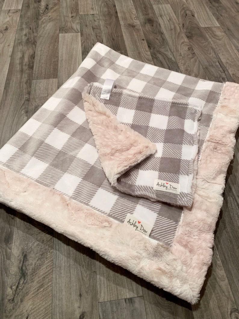 Baby Blanket /& Lovey Set Baby Gift Set Made to Order Minky Blanket HUNTER THEMED