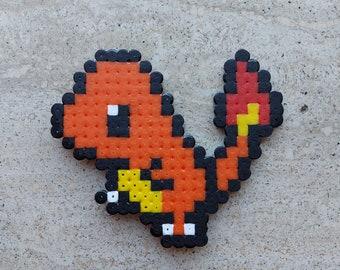 Handmade Pokemon Charmander Hama/Perler/Fuse Bead Magnet
