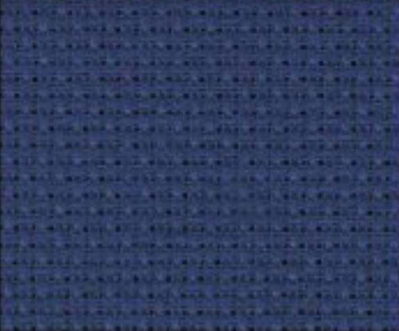 "Aida Cloth Navy Charles Craft 14 ct 12/"" x 18/"""