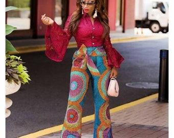 African trouser, ankara print, African clothing