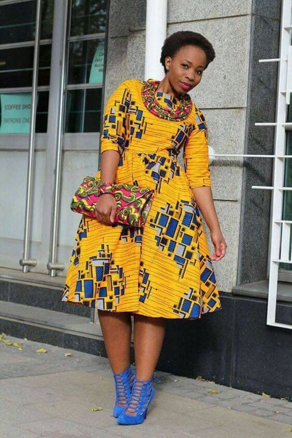 african party dress ankara print african clothing  etsy