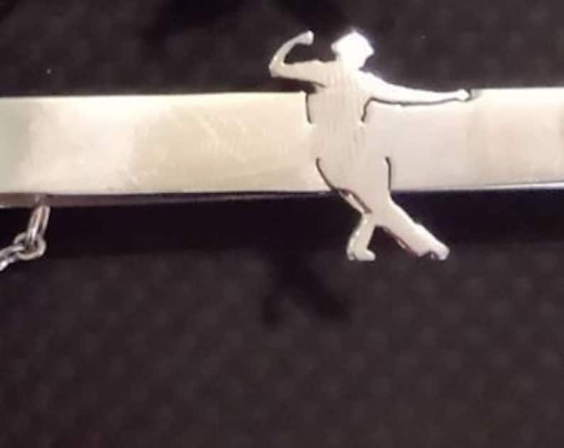 LINDY HOP/ Swing Male Lead Dancer TIECLIP  Fig. 1 image 0