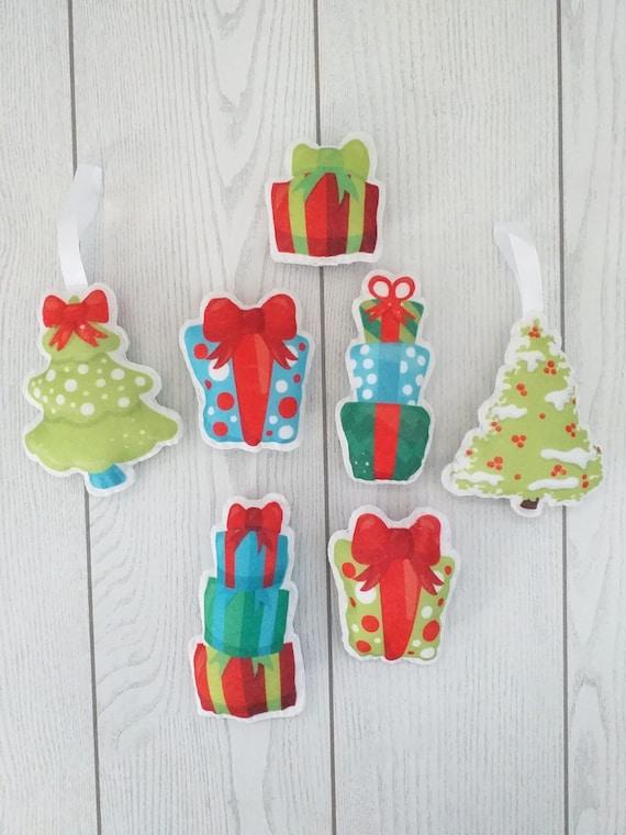 Addobbi Natalizi Pannolenci.Decorazioni Di Natale In Pannolenci Addobbi Di Natale In Etsy