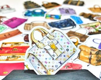 4fb7c609382 34 PC's LV & Gucci handtassen - Planner Sticker Pack, leuke Sticker, Kawaii  sticker, Planner accessoires, Scrapbook sticker, sticker kit