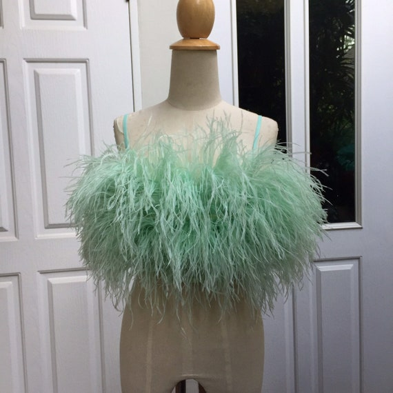 S Ginstar Gina Mint Green Feathers  Tops by Etsy
