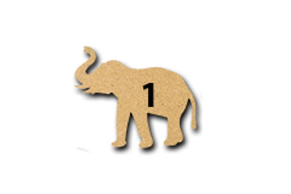 Baby Elephant MDF Laser Cut Craft Blanks in Various Sizes