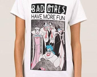Disney Villains 'Bad Girls Have More Fun' Awesome T-Shirt