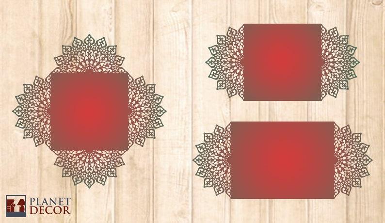 Laser Cut Wedding Card Template