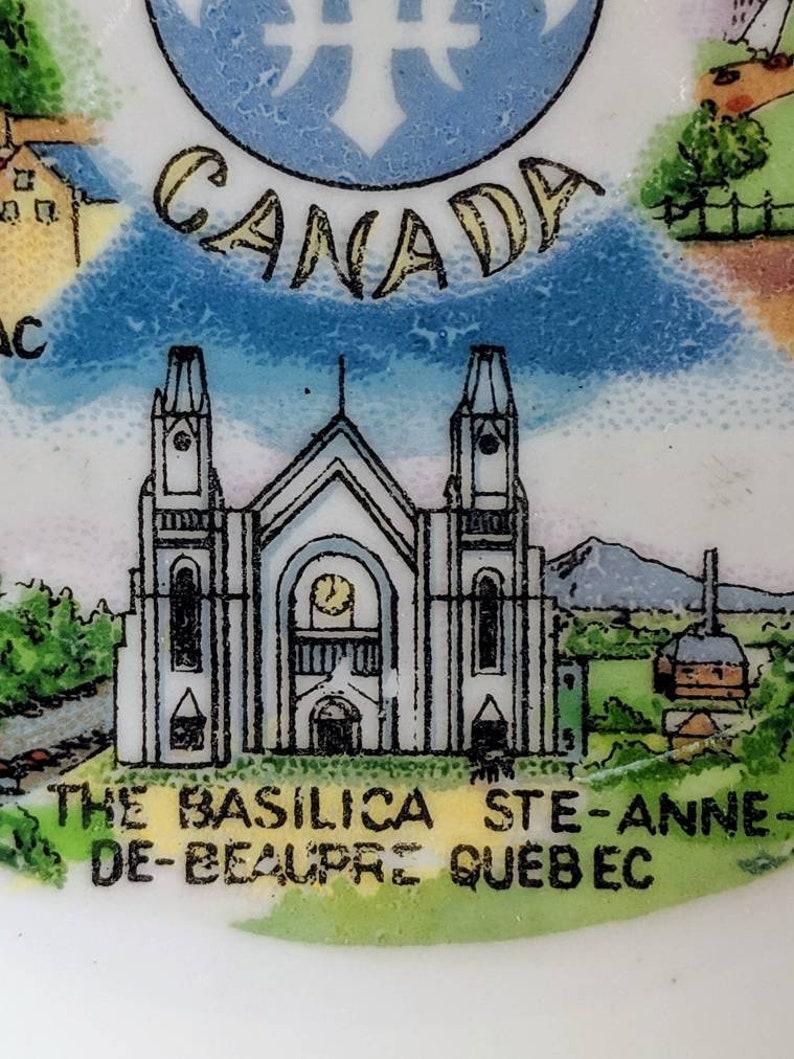 Vintage Quebec Souvenir Ashtray Vintage Souvenir From Quebec